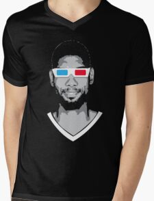 Tim 3D Mens V-Neck T-Shirt
