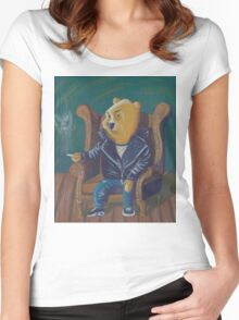 Smoking Winnie The Pooh Women's Fitted Scoop T-Shirt