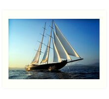 sailboat sailing Art Print