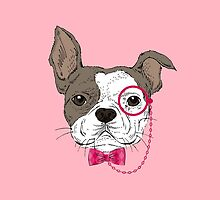French bulldog (pink) by LauraWoollin