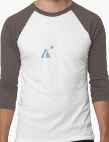 Taito - White Distressed Men's Baseball ¾ T-Shirt