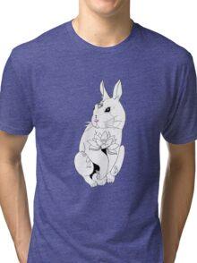Rabbit tattoo Lotus Tri-blend T-Shirt