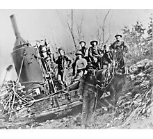 """"""" Logging California 1898 """" Photographic Print"""