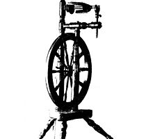 High Contrast Spinning Wheel by Tehaya