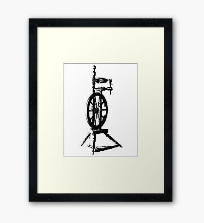High Contrast Spinning Wheel Framed Print