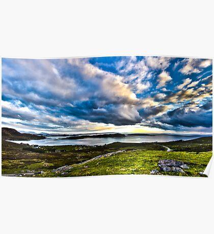 Scottish Skies, Achiltibuie in the Scottish Highlands Poster