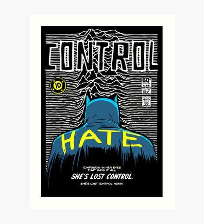 Post-Punk Bat: Control Art Print