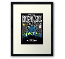 Post-Punk Bat: Control Framed Print