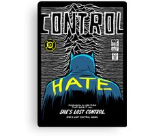 Post-Punk Bat: Control Canvas Print