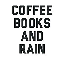 Coffee Books and Rain Photographic Print