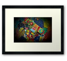 retro painted camera Framed Print