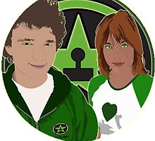 Achievement Hunter Michael and Lindsay by FloppyNovice