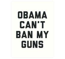 Obama Cant Ban My Guns Art Print