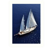 aerial sailboat photography Art Print