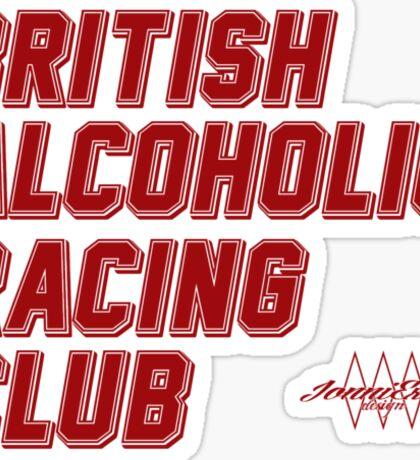 British Alcoholic Racing Club Sticker