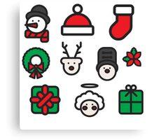 Christmas Icons Canvas Print