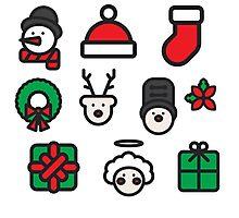 Christmas Icons Photographic Print