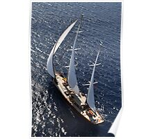 aerial sailboat photography Poster