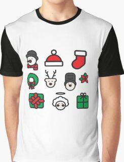 Christmas Icons Graphic T-Shirt