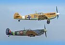 Friend And Foe Scramble - Duxford Flying Legends 2013 by Colin J Williams Photography