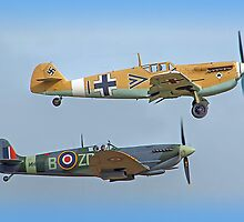 Friend And Foe Scramble - Duxford Flying Legends 2013 by Colin  Williams Photography