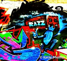 Graffiti Wall  Razz Philly by Kater