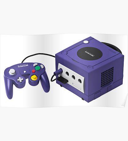 Nintendo Gamecube Console Poster