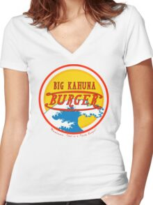 Big Kahuna Burger Women's Fitted V-Neck T-Shirt