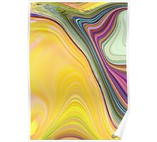 abstract soft colours Poster