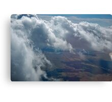 View Out of Airplane Canvas Print