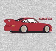 Porsche 993 Graphic - Red Kids Clothes