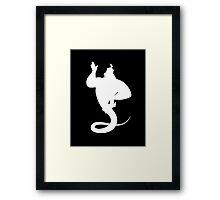 Genie White Framed Print
