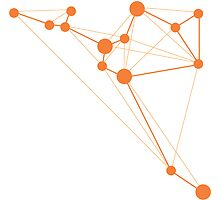 Sagitarius Geometric Constellation by Julie Campbell