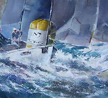 Sailing Around The Buoy - Boats Art Gallery by Ballet Dance-Artist
