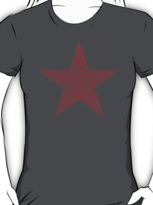 Vintage Style Red Star Shirt Distressed T-Shirt