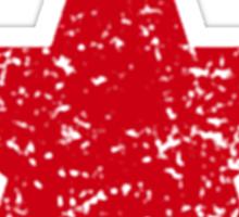 Vintage Style Red Star Shirt Grunge Sticker