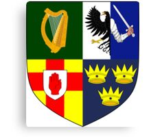 Arms of Four Provinces of Ireland  Canvas Print