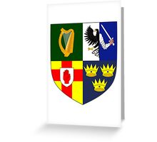 Arms of Four Provinces of Ireland  Greeting Card