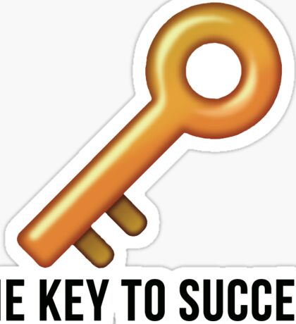 the key to success Sticker
