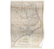 Civil War Maps 0354 Eastern portion of the Military Department of North Carolina Poster
