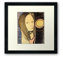 Beautiful Woman and Supernova Framed Print