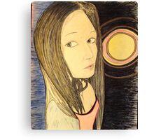Beautiful Woman and Supernova Canvas Print