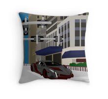 Burghal Thoroughfare Conveyance Throw Pillow