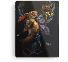 Moth and Flame Metal Print