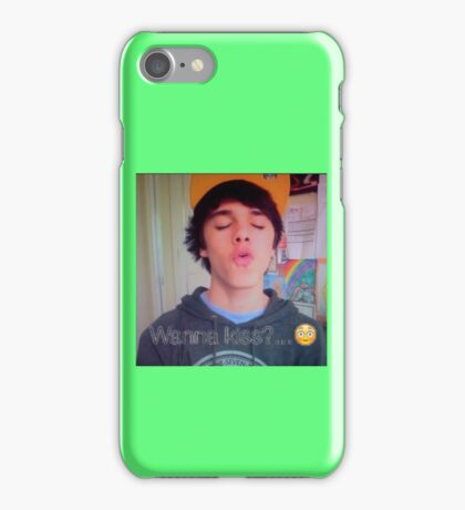 Brent Rivera Kiss iPhone Case/Skin