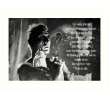 LIKE TEARS IN RAIN... - quote Art Print