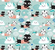 funny texture of the kittens by Tanor