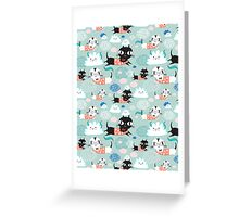 funny texture of the kittens Greeting Card