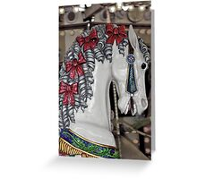 Colorful carousel horse Greeting Card