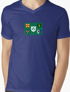 Ireland National Rugby Union Flag Mens V-Neck T-Shirt